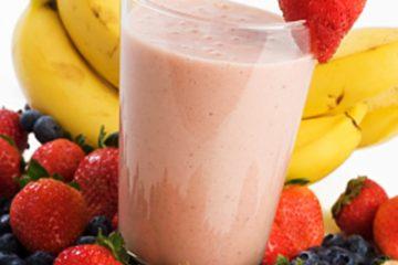 smoothie protéiné à la fraise